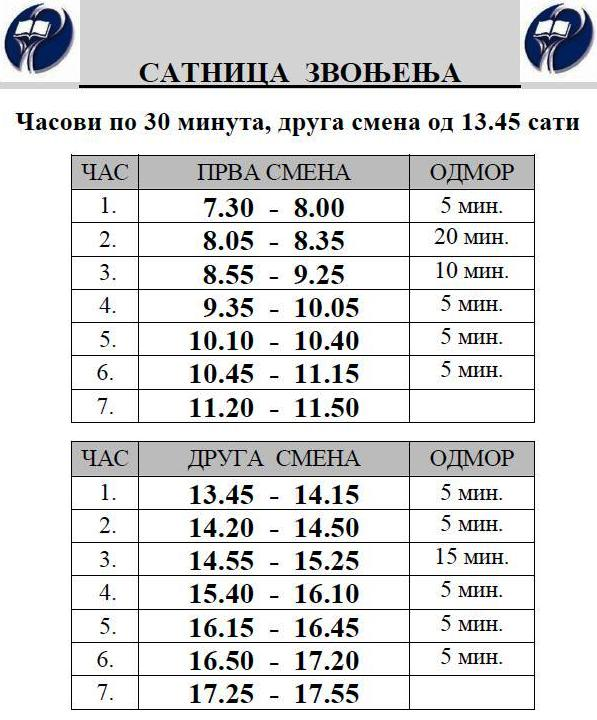 ZVONO 30 MIN II OD 13.45