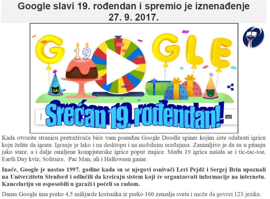 19 GOOGLE
